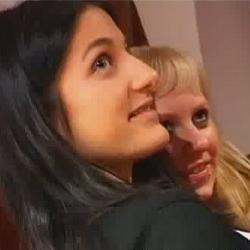 Marina y Lavandra, chicas erasmus, vienen de dos en dos a grabar porno con nosotros